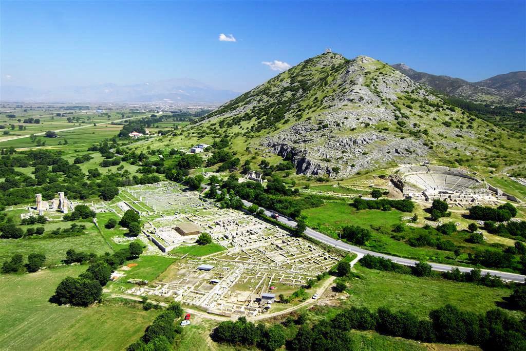 Γενική άποψη της αρχαιολογικής θέσης των Φιλίππων, κοντά στην Καβάλα.