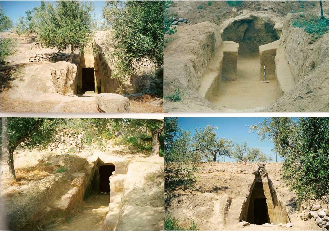 Εικ. 3. Θαλαμωτοί μυκηναϊκοί τάφοι στα «Ελληνικά».