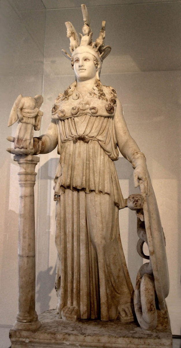 Άγαλμα της Αθηνάς.