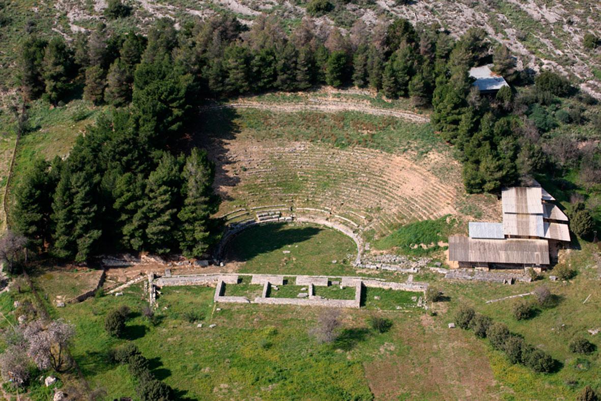 Το αρχαίο θέατρο Δημητριάδος.