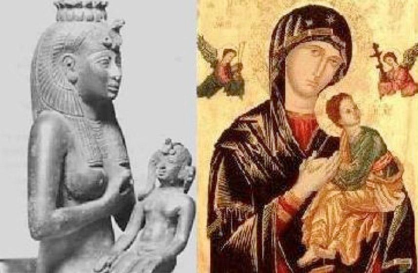 Ίσιδα και Παναγία.