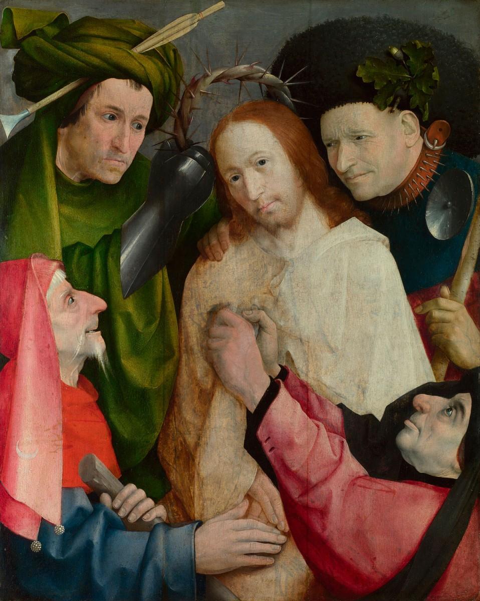 Εικ. 1. Ιερώνυμος Μπoς, «Ο Χριστός περιγελάται», π. 1490-1500. Πριν τον εκχριστιανισμό του Κωνσταντίνου οι χριστιανοί συχνά αντιμετώπιζαν ένα εχθρικό πλήθος που τους χλεύαζε χωρίς έλεος.