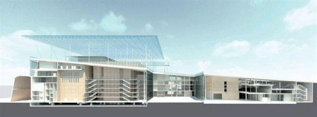 H μακέτα του αρχιτέκτονα Ρέντζο Πιάνο για το Κέντρο Πολιτισμού - Ίδρυμα «Σταύρος Νιάρχος» που βρίσκεται υπό κατασκευή στο Φαληρικό Δέλτα.