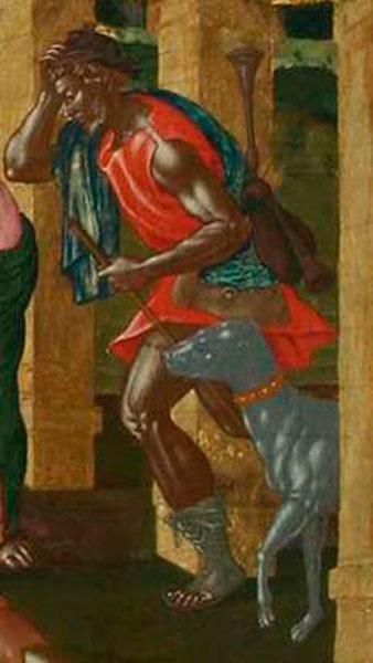 Εικ. 2. Λεπτομέρεια του έργου «Η Προσκύνηση των Ποιμένων» του Στ. Τζανκαρόλα, 17ος αι. Εθνική Πινακοθήκη.