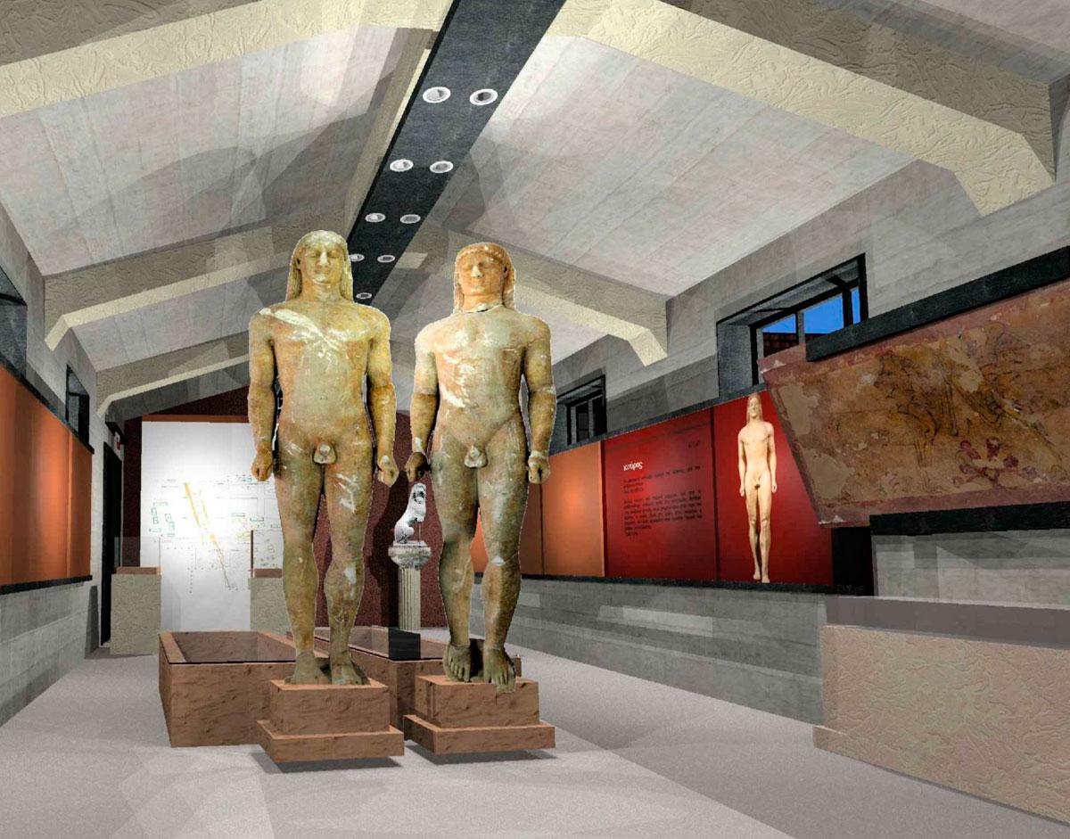 Στο Αρχαιολογικό Μουσείο Αρχαίας Κορίνθου θα εκτεθούν οι δύο Κούροι της Κλένιας.