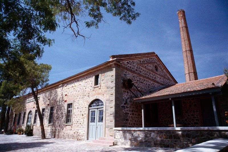 To Μουσείο Βιομηχανικής Ελαιουργίας Λέσβου.