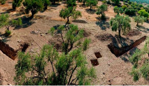 Άποψη της ανασκαφής στο Λισβόρι Λέσβου.