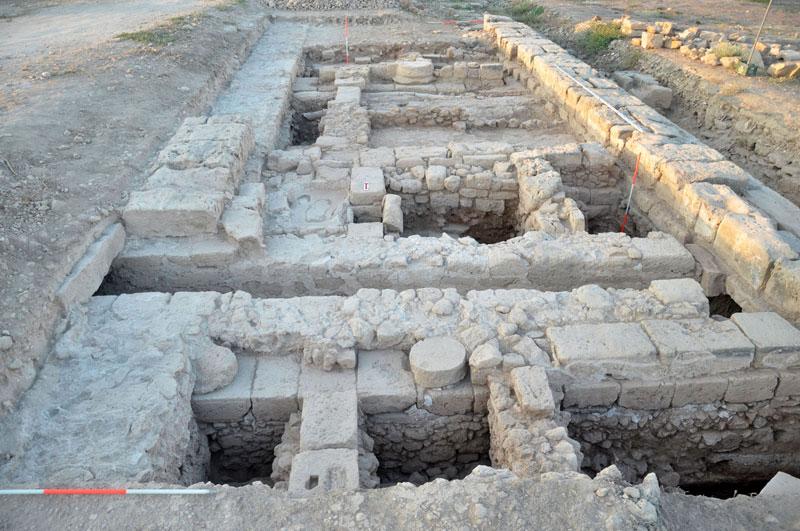 Ανασκαφή Αγοράς Πάφου, 2012. Γενική όψη της Τομής ΙΙ.