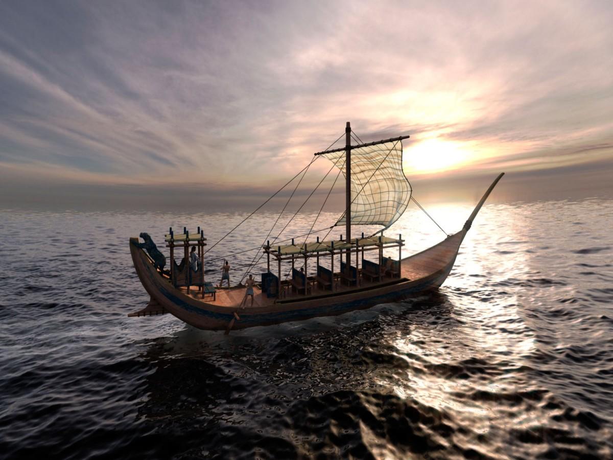 Εικόνα από την παράσταση «Ο Ουρανός των Αρχαίων» που παρουσιάζεται στο Ψηφιακό Πλανητάριο του Ιδρύματος Ευγενίδου.
