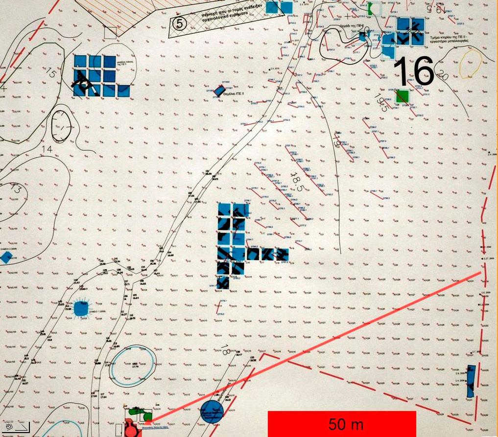 Εικ. 11. Χάρτης διαδρομής 16 με θολωτό τάφο.