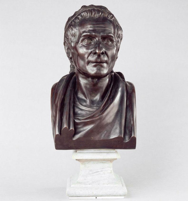 Προτομή του Ζαν-Ζακ Ρουσό, έργο του Jean-Antoine Houdon. Μουσείο του Λούβρου, Παρίσι.