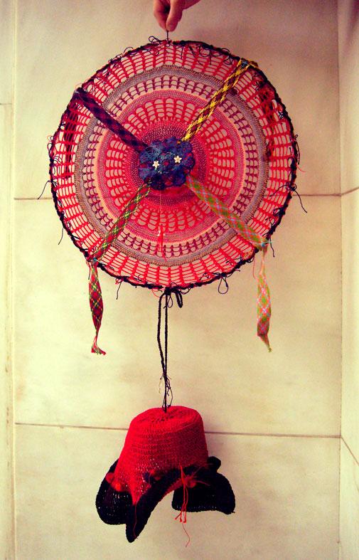 Δημιουργία της Καλλιρρόης Σπυρίδωνος με υλικά της βιοτεχνίας Μέντη.