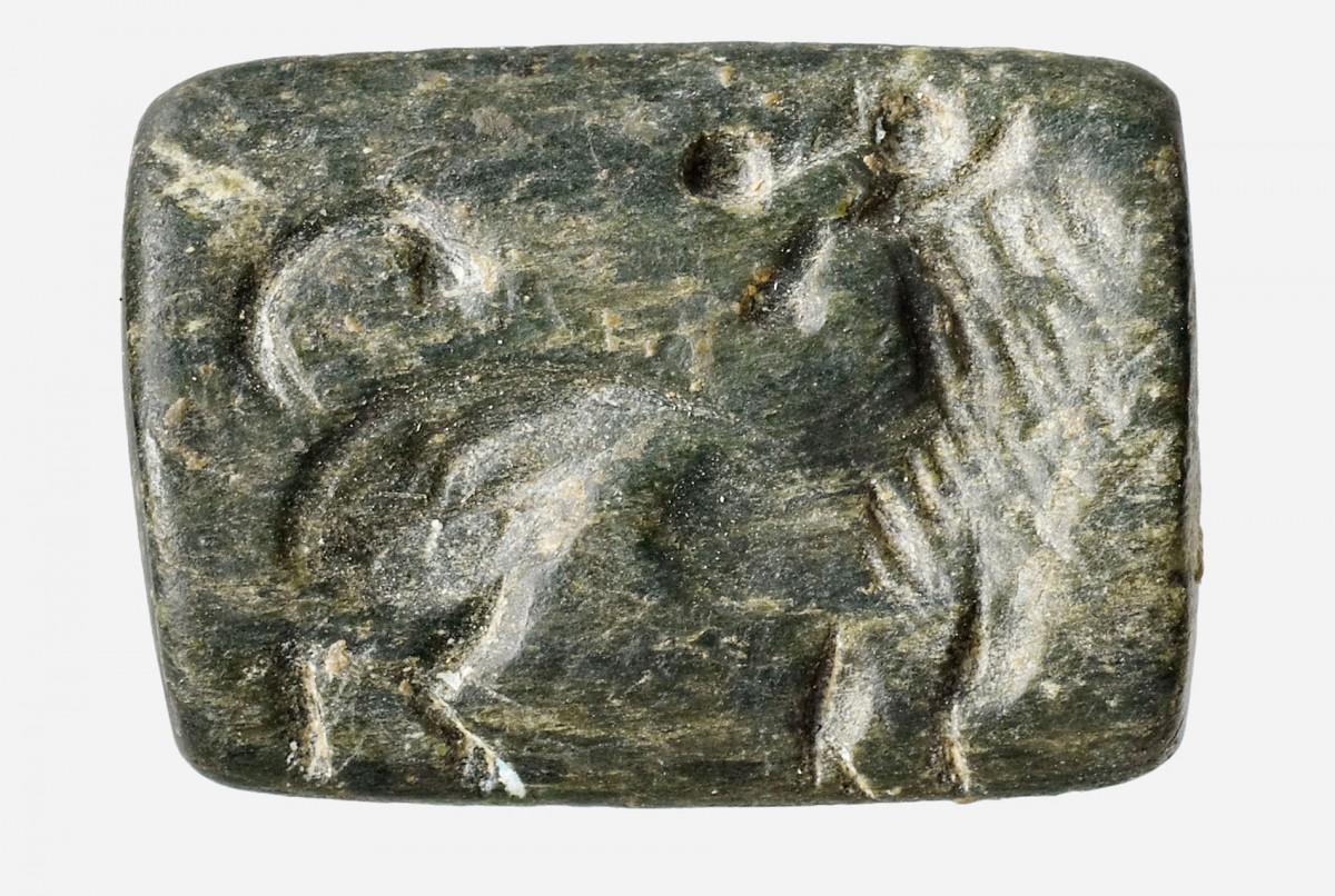 Εικ. 22. Σφραγίδα που εικονίζει λέοντα, από τον Χώρο 28.