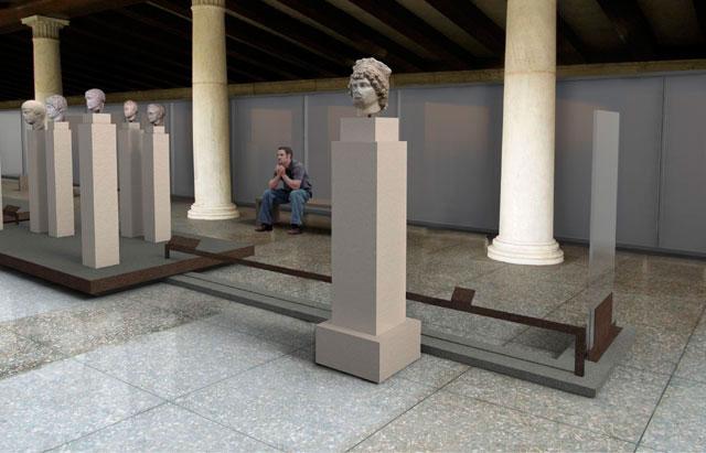 «Τεκμήρια Γλυπτικής από την Αρχαία Αγορά», στον άνω όροφο της Στοάς Αττάλου.