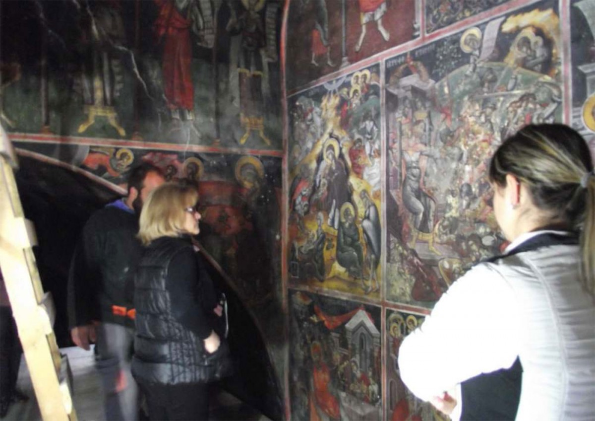 Οι εργασίες συντήρησης των τοιχογραφιών του ναού του Αγίου Δημητρίου στην Κληματιά Ιωαννίνων έχουν σχεδόν ολοκληρωθεί.