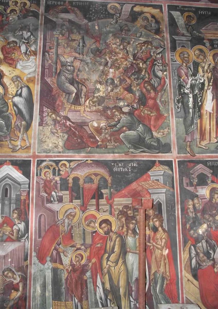 Tοιχογραφία στον ναό του Αγίου Δημητρίου στην Κληματιά Ιωαννίνων.