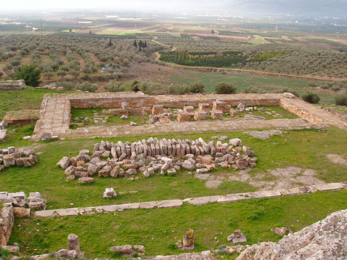 Εικ. 1. Σημερινή κατάσταση του ναού του 5ου αιώνα π.Χ.