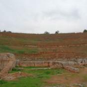 Εργασίες στο αρχαίο θέατρο της Σικυώνας