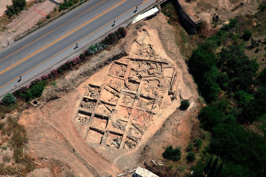 Εικ. 5. Αεροφωτογραφία του πρωτοελλαδικού οικισμού στην Κερύνεια.