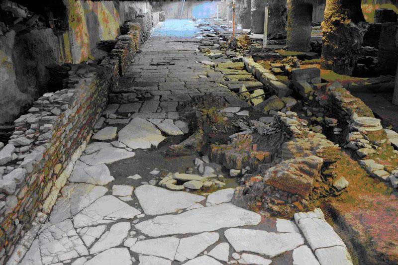 Αρχαιολογικά ευρήματα από τις ανασκαφές για την κατασκευή του Μετρό Θεσσαλονίκης.