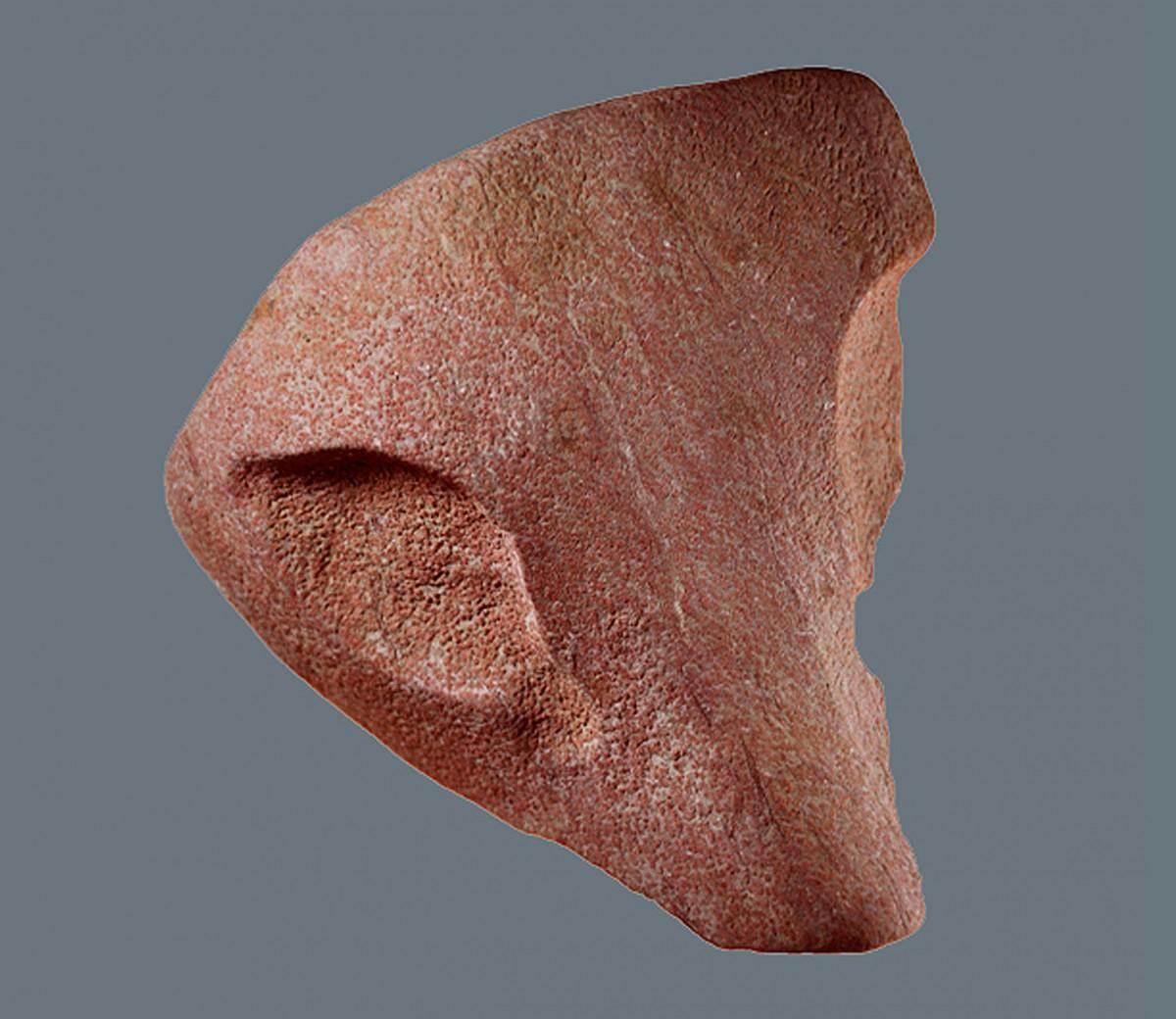 Εικ. 9. Λίθινη κεφαλή αιλουροειδούς.