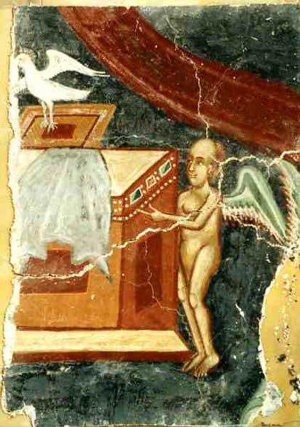 Τοιχογραφία από τη Μονή Αντιφωνητή (πηγή: Spiegel).