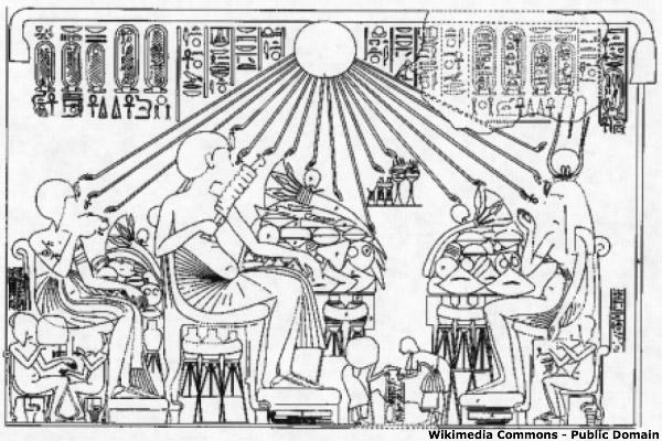 Σκηνή βασιλικού γεύματος από τάφο ευγενούς. Τελ ελ-Αμάρνα.