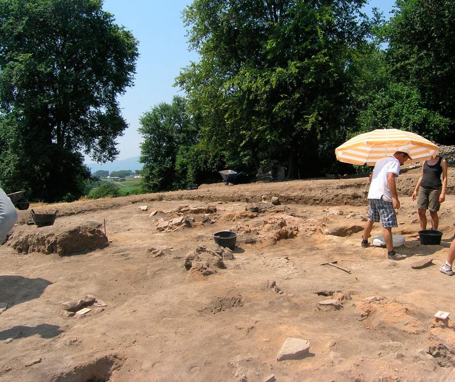 Άποψη της ανασκαφής στο Ντικιλί Τας.