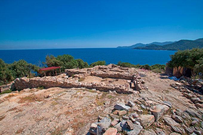 Ο χώρος της ανασκαφής στα Αρχαία Στάγειρα (φωτ. Δήμος Αριστοτέλη).