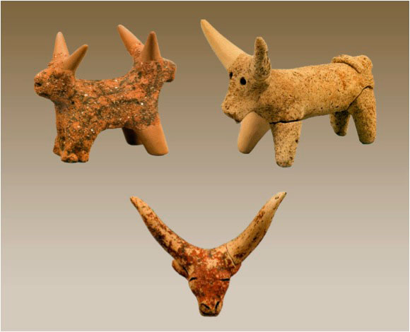 Εικ. 3. Ειδώλια βοοειδούς.