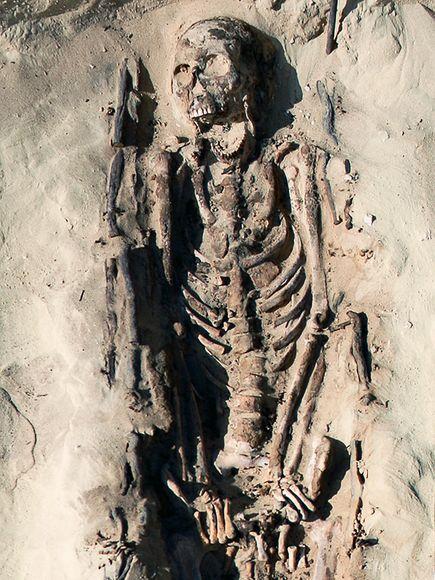 Σκελετός άνδρα 19 ετών από το Νότιο Νεκροταφείο της Αμάρνα.