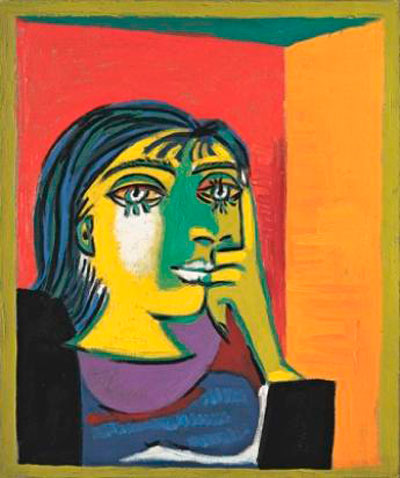 Πορτρέτο της Ντόρα Μάαρ, έργο του Πάμπλο Πικάσο, 1937. Μουσείο Πικάσο, Παρίσι.