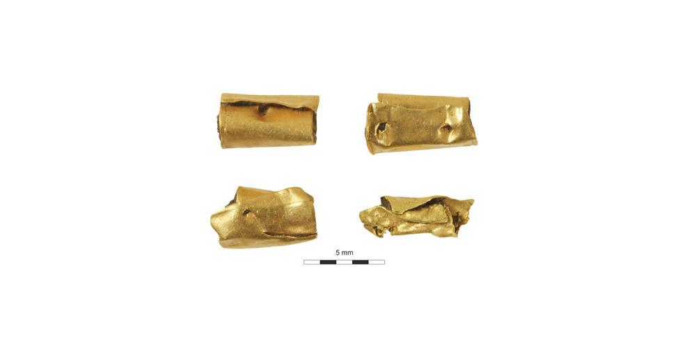 Χρυσές ψήφοι από γυναικεία ταφή στο Ουίνδσορ (2400 π.Χ.).