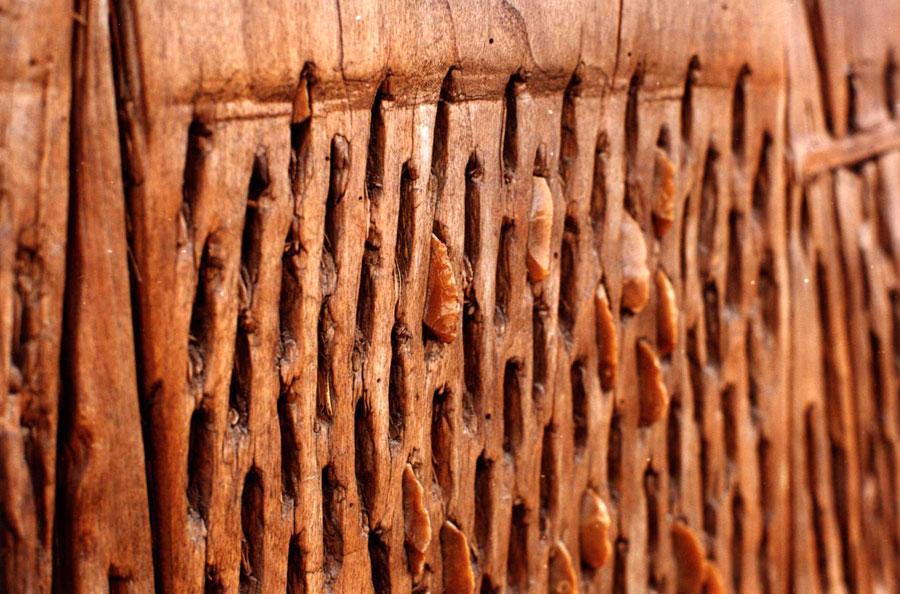 Εικ. 18. Λεπτομέρεια πρόσφυσης δοκανόπετρων στο κάτω μέρος δοκάνας.