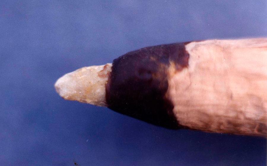 Εικ. 10. Λεπτομέρεια της αιχμής του τρυπανιού στο τέλος του πειράματος.