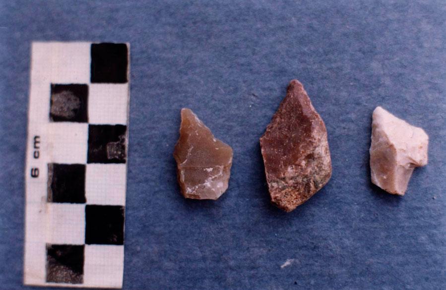 Εικ. 5. Οπείς από πυριτόλιθο (Πειραματική Αρχαιολογία).