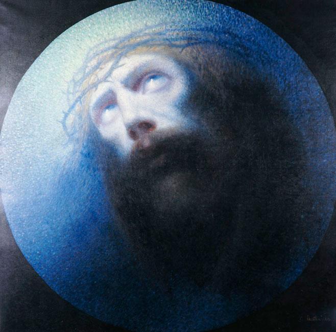 «Ο Χριστός», έργο του Κωνσταντίνου Παρθένη, π. 1900, λάδι σε μουσαμά. Εθνική Πινακοθήκη, Αθήνα.