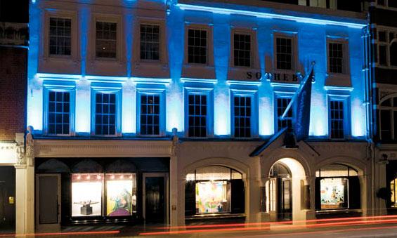 Η έδρα του οίκου δημοπρασιών Sotheby's στο Λονδίνο.