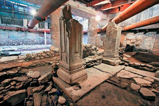 Αρχαιολογικά ευρήματα που ήρθαν στο φως στη διάρκεια των εργασιών κατασκευής του Μετρό Θεσσαλονίκης.