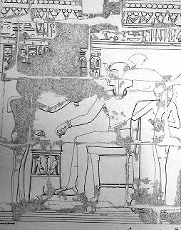 Ο Ραμσής Γ΄με το χαρέμι του. Ναός Μεντίνετ Χάμπου, Αίγυπτος.