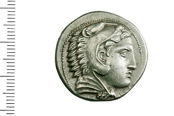Εικ. 1. Αλέξανδρος Γ'. Αργυρό τετράδραχμο. Εμπροσθότυπος. Νομισματική Συλλογή Alpha Bank 5556.
