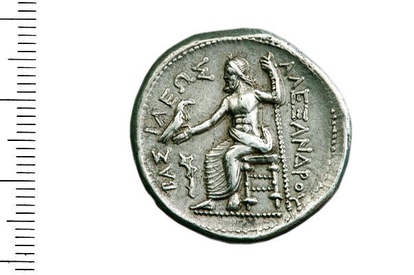 Εικ. 2. Αλέξανδρος Γ'. Αργυρό τετράδραχμο. Οπισθότυπος. Νομισματική Συλλογή Alpha Bank 5556.