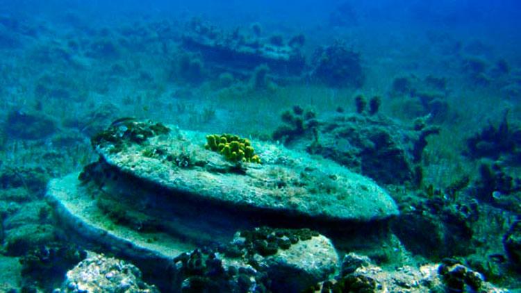 Ευρήματα υποβρύχιας έρευνας στην περιοχή Αλυκανά Ζακύνθου.