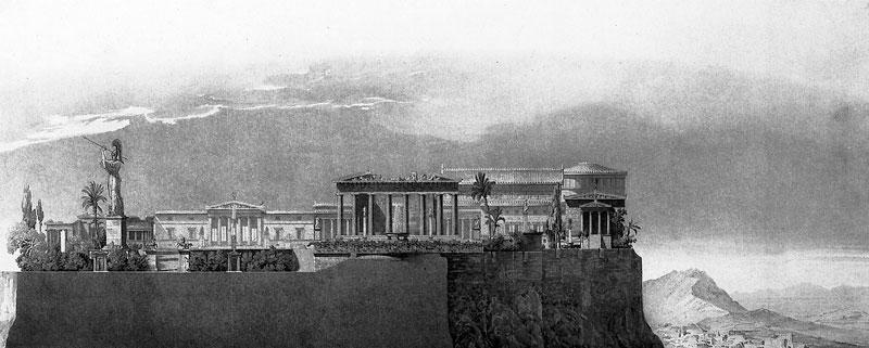 Η πρόταση του Σίνκελ για ανάκτορα πάνω στην Ακρόπολη.