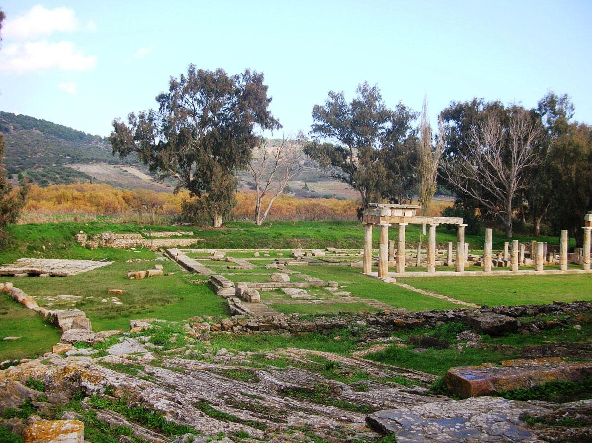 Εικ. 4. Ο αρχαιολογικός πλούτος της Βραυρώνας. Άποψη του χώρου του ιερού από τα δυτικά. Από προσωπικό αρχείο.