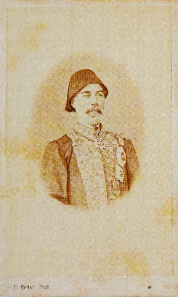 Εικ. 8. Οθωμανός πασάς το 1868. Φωτογραφία του Ιωάννη Ξανθόπουλου.