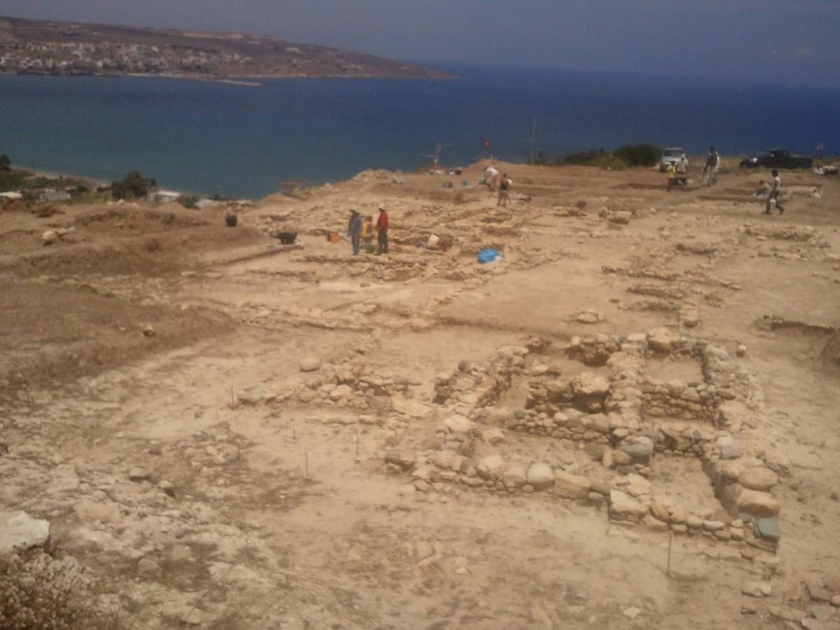 Από τις ανασκαφές στον Πετρά Σητείας.