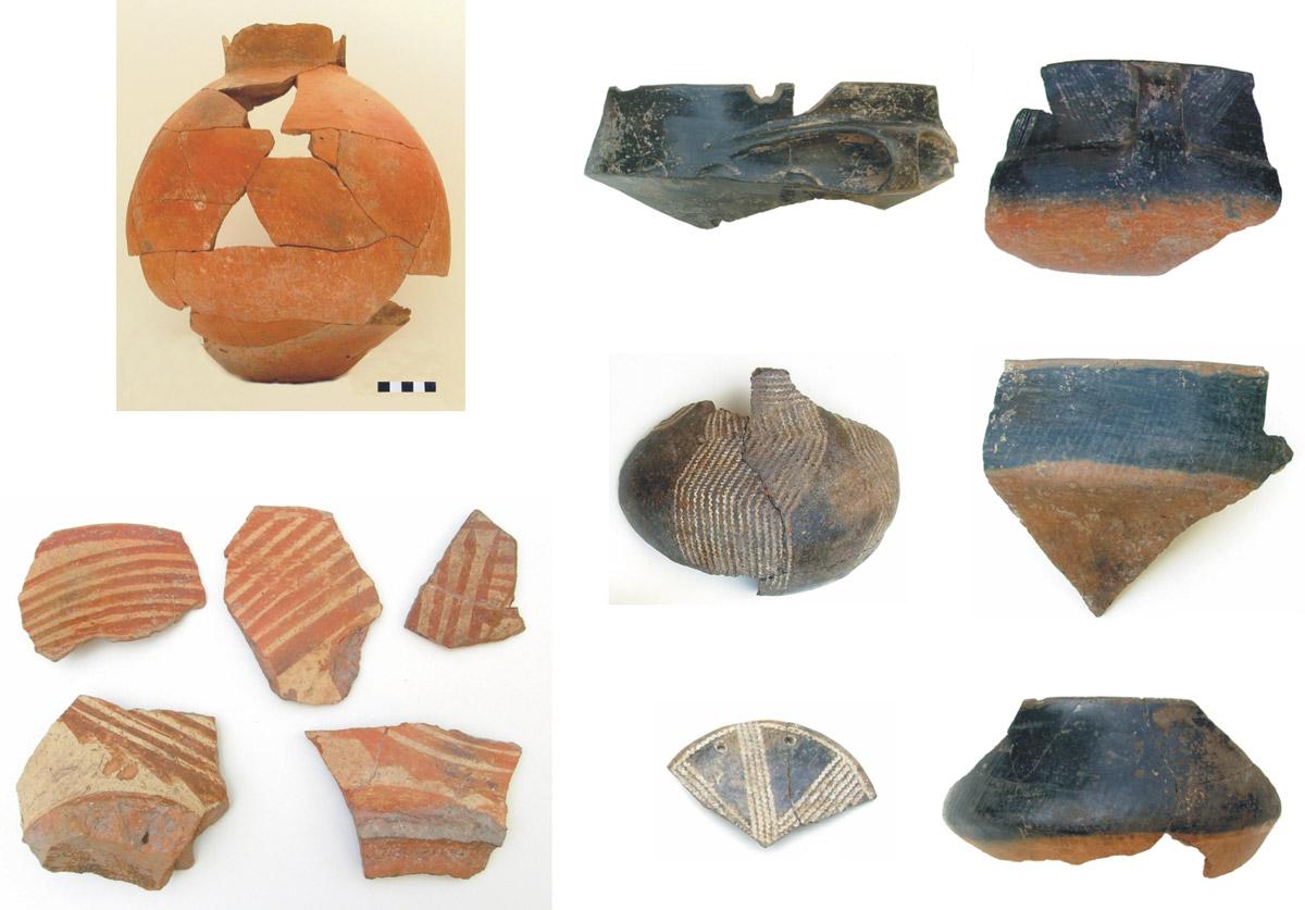 Εικ. 6. Κεραμική της Mέσης και Nεότερης Nεολιθικής.