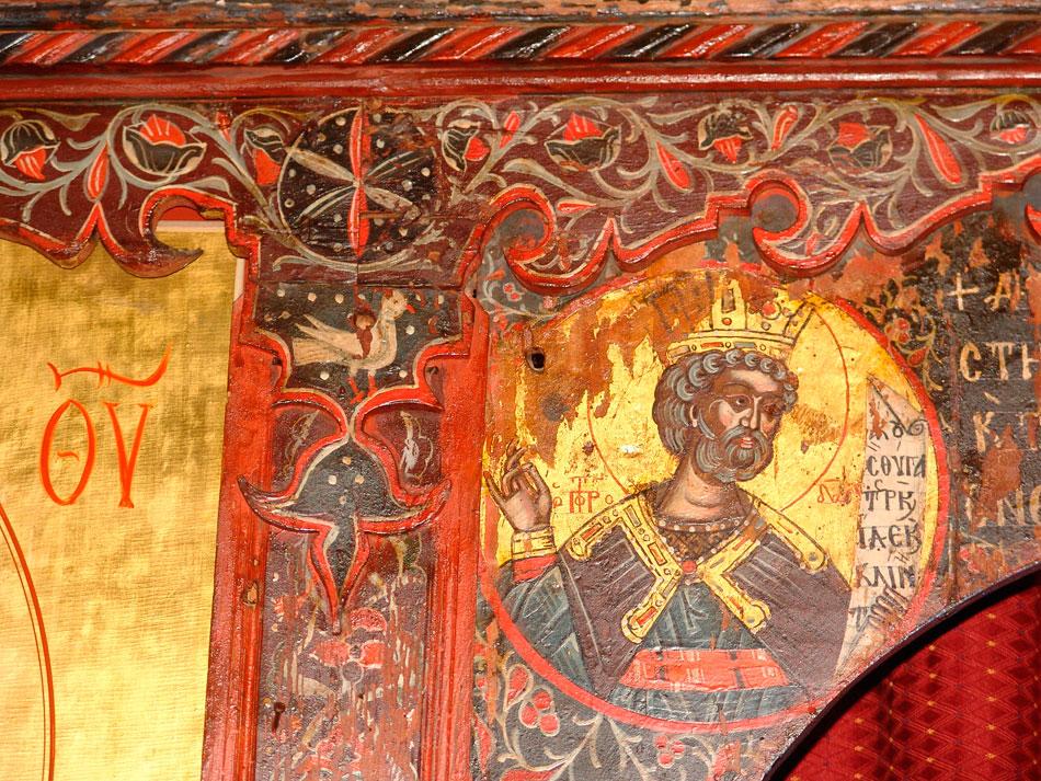 Τοιχογραφία της Ιεράς Μονής Αγίου Παντελεήμονα, στην Αγιά Λάρισας (φωτ. ΑΠΕ-ΜΠΕ).