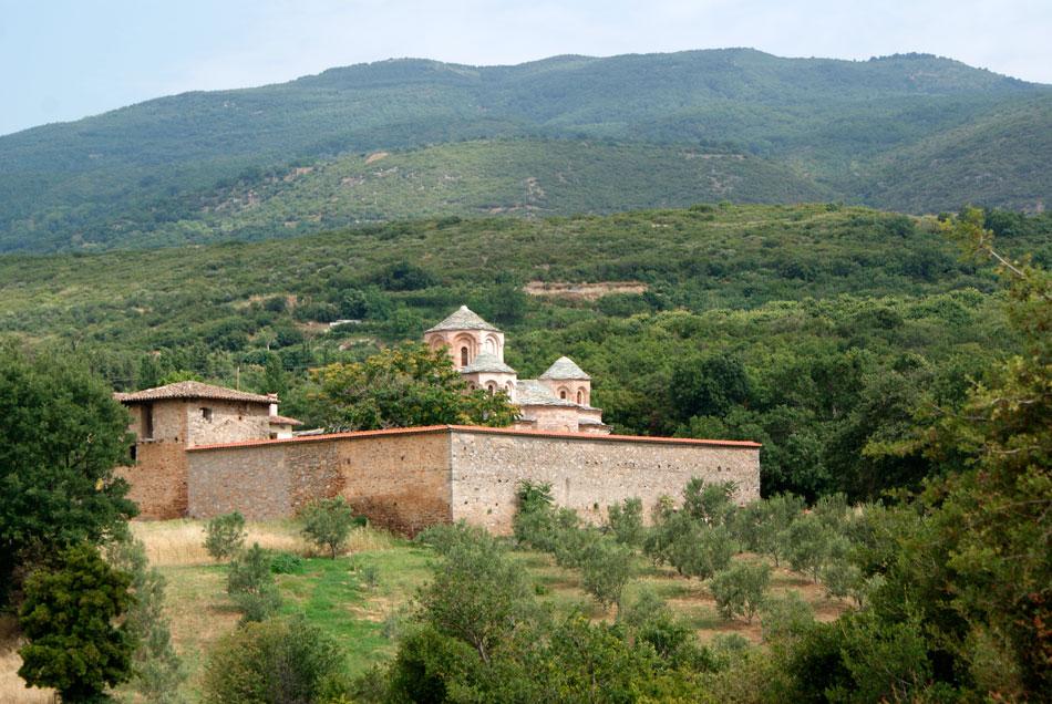 Η Ιερά Μονή Αγίου Παντελεήμονα, στην Αγιά Λάρισας (φωτ. ΑΠΕ-ΜΠΕ).